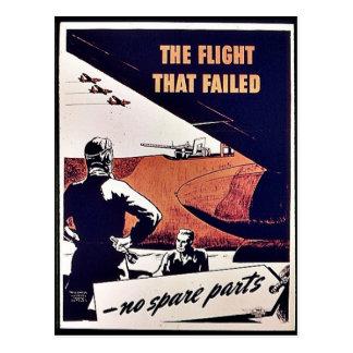 El vuelo que falló postales