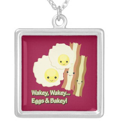 el wakey del wakey eggs bakey de n colgante cuadrado