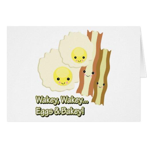 el wakey del wakey eggs bakey de n tarjeta de felicitación