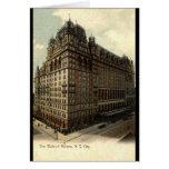 El Waldorf vintage 1908 de Astoria, New York City Tarjeton