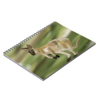 El Wallaby salta los cuadernos espirales