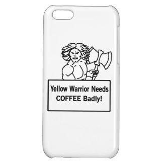 El warrioe amarillo necesita el café gravemente
