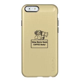 El warrioe amarillo necesita el café gravemente funda para iPhone 6 plus incipio feather shine