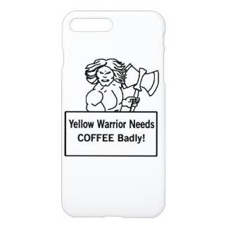 El warrioe amarillo necesita el café gravemente funda para iPhone 7 plus