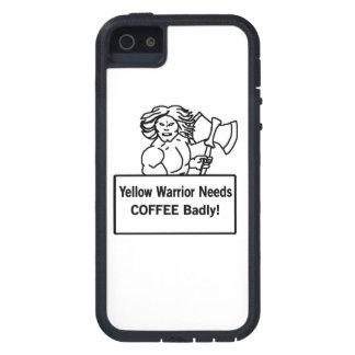 El warrioe amarillo necesita el café gravemente iPhone 5 funda