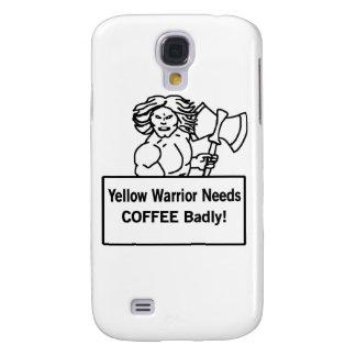 El warrioe amarillo necesita el café gravemente samsung galaxy s4 cover