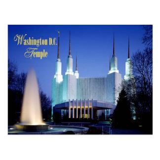 El Washington D.C. Temple en Kensington, Maryland Tarjeta Postal