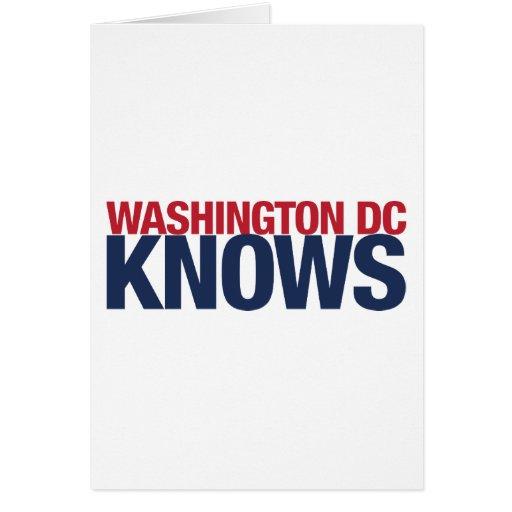 El Washington DC sabe Tarjeta De Felicitación