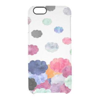 El watercolour caprichoso multicolor se nubla el funda clearly™ deflector para iPhone 6 de uncommon