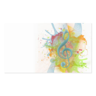 El watercolour colorido fresco salpica notas de la tarjetas de visita