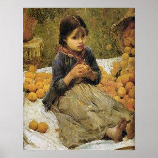 El Waterhouse anaranjado de los recolectores (deta Posters