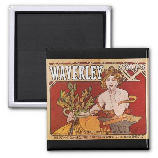 El ~ Waverley de Mucha completa un ciclo 1898 Imán De Nevera