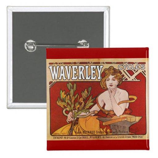 El ~ Waverley de Mucha completa un ciclo 1898 Pins