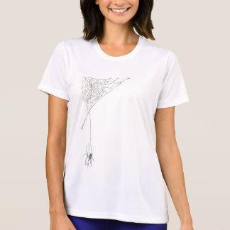 El Web blanco de la araña N sombreó la camiseta Remeras