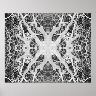 El Web de araña inverso de la copa Póster