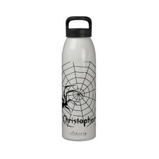 El Web de arañas apenas añade nombre Botella De Agua Reutilizable