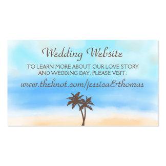 El Web site de la colección del boda de playa de Tarjetas De Visita