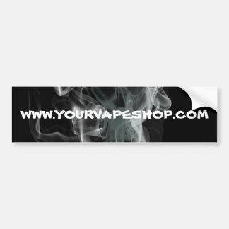 El Web site negro de las tiendas de Vape del humo Pegatina Para Auto
