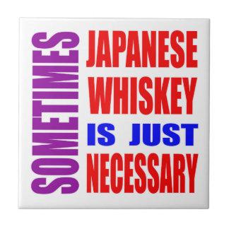 El whisky a veces japonés es apenas necesario azulejo cuadrado pequeño