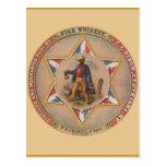 El whisky de la estrella destilado y autorizó puro tarjetas postales