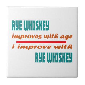 El whisky de Rye mejora con edad Azulejo Cuadrado Pequeño