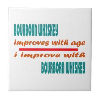 el whisky del bourborn mejora con edad azulejo cuadrado pequeño