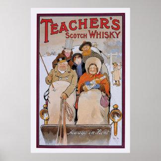 El whisky escocés del profesor posters