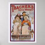 El whisky escocés del profesor póster