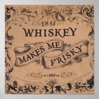 El whisky me hace juguetón impresiones