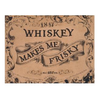 El whisky me hace juguetón postales