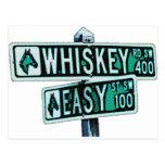 El whisky montó y Easy Street 2 Tarjetas Postales