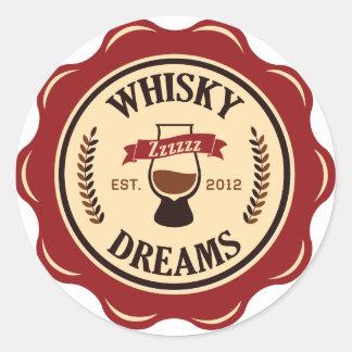 El whisky soña a los pegatinas pegatina redonda