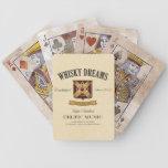 El whisky soña naipes cartas de juego