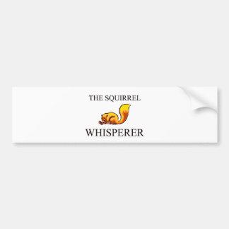 El Whisperer de la ardilla Pegatina Para Auto
