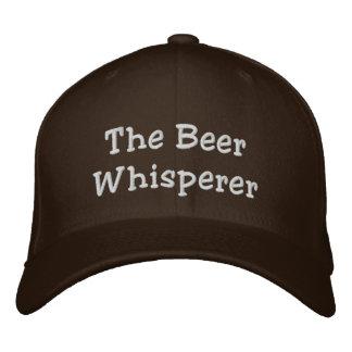 El Whisperer de la cerveza Gorra De Beisbol Bordada