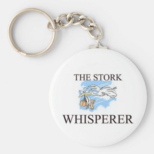 El Whisperer de la cigüeña Llavero