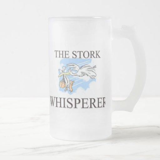 El Whisperer de la cigüeña Tazas De Café