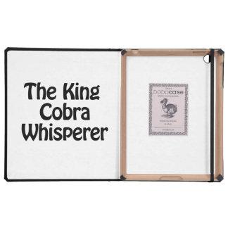 el whisperer de la cobra real iPad funda