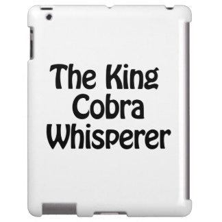 el whisperer de la cobra real funda para iPad