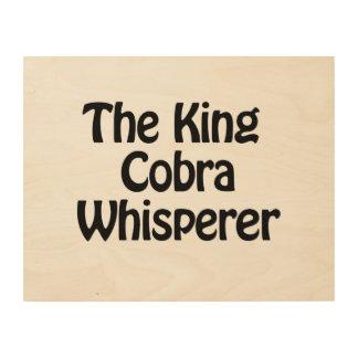 el whisperer de la cobra real cuadros de madera