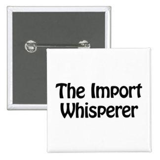 el whisperer de la importación chapa cuadrada 5 cm