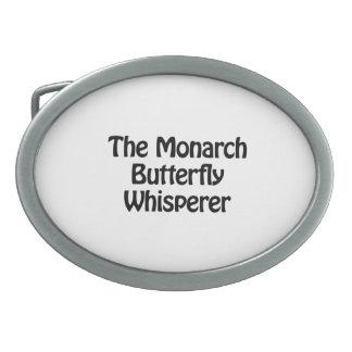 el whisperer de la mariposa de monarca hebilla de cinturon oval