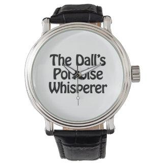 el whisperer de la masopa de los dalls relojes de mano