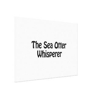 el whisperer de la nutria de mar impresion de lienzo