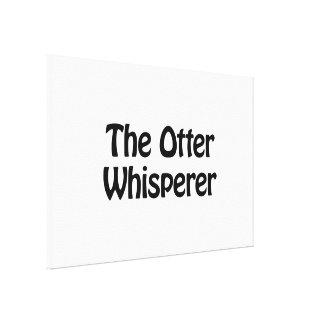 el whisperer de la nutria lona envuelta para galerias
