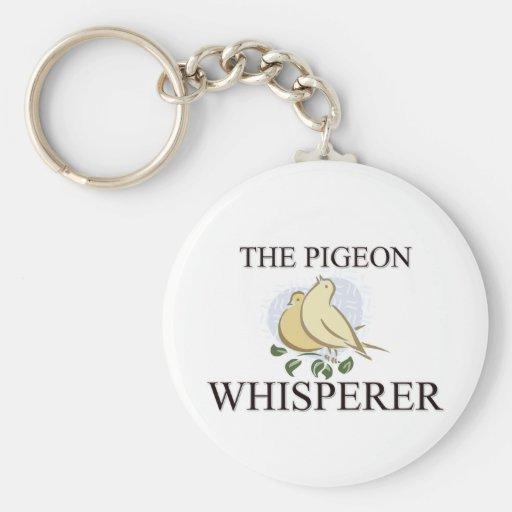 El Whisperer de la paloma Llavero