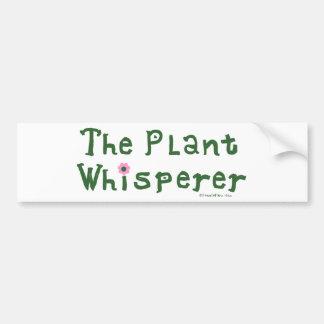 El whisperer de la planta pegatina para auto