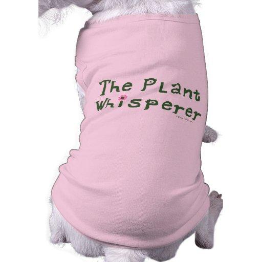 El whisperer de la planta playera sin mangas para perro