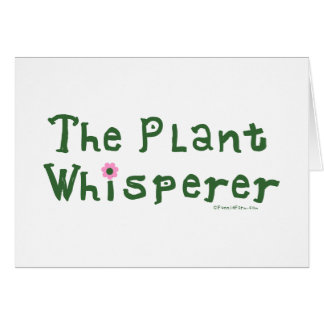 El whisperer de la planta tarjeta pequeña