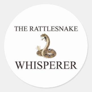 El Whisperer de la serpiente de cascabel Pegatina Redonda